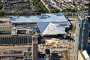 Nederland, Zuid-Holland, Rotterdam, 15-07-2012; Binnenstad, Stationsplein en Weena. Nieuwbouw nieuwe station..New construction central railway station in the center of Rotterdam. luchtfoto (toeslag), aerial photo (additional fee required).foto/photo Siebe Swart