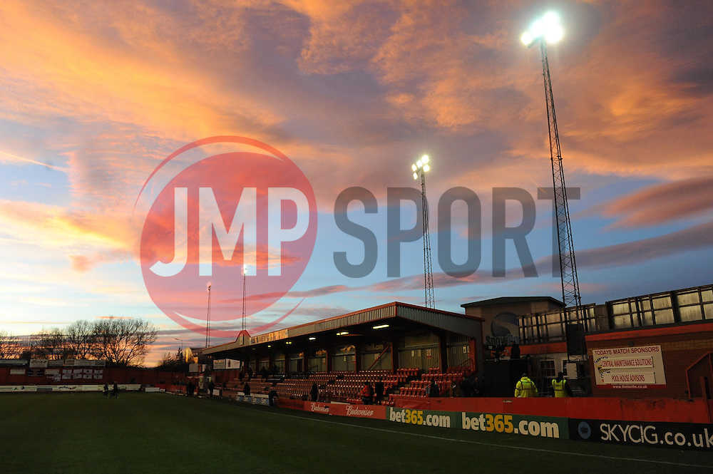 The Lamb Ground - Photo mandatory by-line: Dougie Allward/JMP - Tel: Mobile: 07966 386802 08/12/2013 - SPORT - Football - Tamworth - The Lamb Ground - Tamworth v Bristol City - FA Cup - Second Round