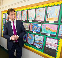 © London News Pictures. 17/07/2013. London, UK.  Deputy Prime Minister NICK CLEGG during a visit to St Joseph's Primary School, in Holborn, London. The Government today (17/07/2013) announced plans to rank students at the age of 11.  Photo credit : Ben Cawthra/LNP