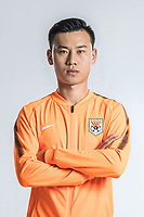 **EXCLUSIVE**Portrait of Chinese soccer player Li Songyi of Shandong Luneng Taishan F.C. for the 2018 Chinese Football Association Super League, in Ji'nan city, east China's Shandong province, 24 February 2018.