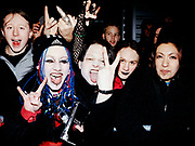 Marilyn Manson fans queuing outside the London Arena, London, 2001.