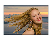 Creative Custom Portraiture by Maria Rock Photography, senior portraits, happy, blond