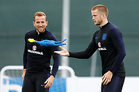 SAINT PETERSBURG, RUSSIA - JULY 10: Harry Kane (L) and Eric Dier during an Englang national team training session ahead of the 2018 FIFA World Cup Russia Semi Final match against Croatia at Stadium Spartak Zelenogorsk on July 10, 2018 in Saint Petersburg, Russia. (MB Media)