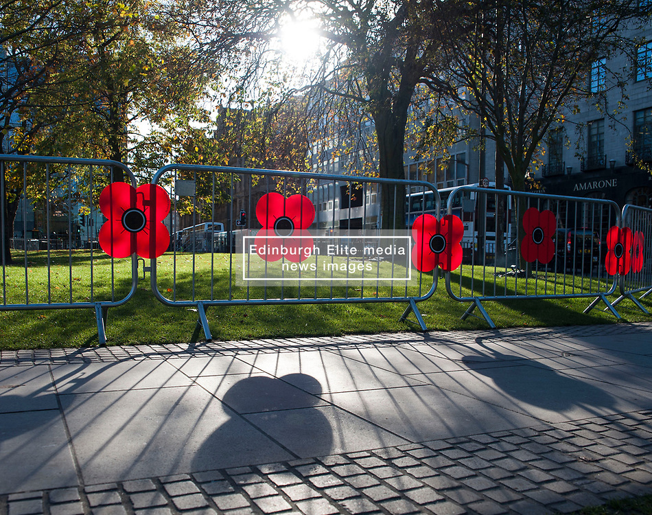 The 4th annual Poppy Day held in Edinburgh today. The aim of the day is to raise both money and awareness of the wider poppy appeal. Last year's Poppy Day raised in excess of £20,000.<br /> <br /> © Dave Johnston/ EEm