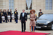 Paris,  10-3-2016 <br /> <br /> State Visit of King Willem-Alexander to France accompanied by Queen Maxima.<br /> <br /> Arrival at Palais de l&rsquo;Elysee. Meeting with President Hollande<br /> <br /> <br /> Copyright: Royalportraits Europe/Bernard Ruebsamen