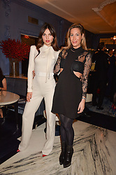 LONDON, ENGLAND 8 DECEMBER 2016: Doina Ciobanu, Laura Pradelska at the Omega Constellation Globemaster Dinner at Marcus, The Berkeley Hotel, Wilton Place, London England. 8 December 2016.