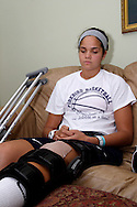 Fairmont sophomore Makayla Watterman of Kettering at the home of Brooklym Pumroy, Friday, July 1, 2011.