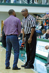24 November 2017: Intercity Boys Basketball game between the Bloomington High Raiders and the Normal West Wildcats at Shirk Center in Bloomington Illinois