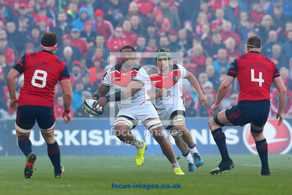 Joe Tekori of Stade Toulousain during the European Rugby Champions Cup match at Thomond Park, Limerick<br /> Picture by Yannis Halas/Focus Images Ltd +353 8725 82019<br /> 01/04/2017