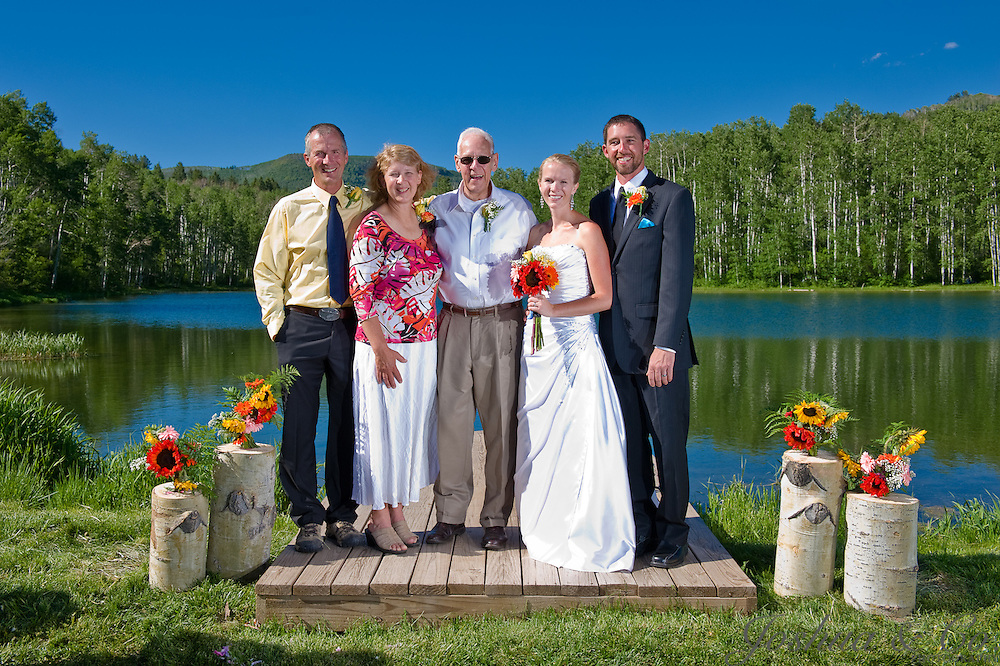 Audrey Hughes and Chad Turner wedding at Coulter Lake Guest Ranch near Rifle, Colo., on Saturday, June 25, 2011. ...Joshua Buck // Joshua & Co. Photography ..www.joshuacophotography.com