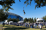ARLINGTON, TX - NOVEMBER 23:  Fans playing in the Kid Zone outside of the stadium before a game between the Dallas Cowboys and the Los Angeles Chargers at AT&T Stadium on November 23, 2017 in Arlington, Texas.  The Chargers defeated the Cowboys 28-6.  (Photo by Wesley Hitt/Getty Images) *** Local Caption ***