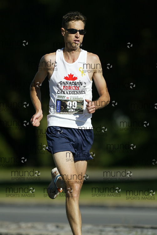 "(Ottawa, Ontario -- 20 Sep 2009) REMY LAROCQUE of Gatineau competing in the Army Run half-marathon in Ottawa. [Photo credit should read ""Sean Burges / Mundo Sport Images""]"