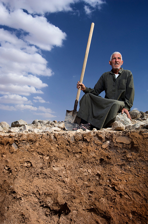 Soils in Syria. Villages in the Khanasser Valley where the soil is poor and there is little water.