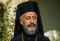Archbishop Makarios, born 13 August 1913 -  died 3 August 1977, was born Mihail Christodoulou Mouskos, elected Archbishop of Cyprus 18 September 1950. He was elected the first president of Cyprus serving from 16 August 1960  until 15 July 1974. This photo was taken in February 1971. 197102000099AM1..Copyright Image from Victor Patterson, 54 Dorchester Park, Belfast, UK, BT9 6RJ..Tel: +44 28 9066 1296.Mob: +44 7802 353836.Voicemail +44 20 8816 7153.Skype: victorpattersonbelfast.Email: victorpatterson@mac.com.Email: victorpatterson@ireland.com (back-up)..IMPORTANT: If you wish to use this image or any other of my images please go to www.victorpatterson.com and click on the Terms & Conditions. Then contact me by email or phone with the reference number(s) of the image(s) concerned.