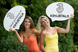No Repro Fee..Three Launch their new Facebook App #3HUBTALK to celebrate 'All you can eat' data on Three Prepay.Pictured are top models Roz Purcell (left) and Pippa O'Connor, as they came together to launch the Three 'Hub Talk' #3HUBTALK Facebook App where fans can WIN top prizes daily by sharing their pictures & videos with the celebs and each other. .A whole host of Irish personalities are involved in the data sharing competition app, others include ex-Mayo footballer and controversial Twitter lover, Conor Mortimer as well as the not-so-real but much loved @Marty_Morrissey .#3HUBTALK has been created to celebrate Three's current prepay campaign, centred around 'All You Can Eat' data sharing and the Samsung Galaxy Mini, now available from Three from just ?69..Pic: CPR....-ends-....For further information, please contact: ..Aoiffe Madden                                                          .WHPR                                                                 .01 6690030 / 087 941 0431...          .aoiffe.madden@ogilvy.com       ..Elisabeth Fitzpatrick.WHPR.01 6690030 / 086 609 2571.Elisabeth.fitzpatrick@ogilvy.com ..