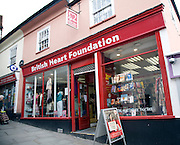 British Heart Foundation charity shop, Colchester, Essex