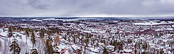 THEMENBILD - Panorama von Oslo mit den Fjorden vom Holmenkollen aus, aufgenommen am 08. Maerz 2019 in Oslo, Norwegen // Panorama from Oslo with the fjords from the Holmenkollen, Oslo, Norway on 2018/03/08. EXPA Pictures © 2019, PhotoCredit: EXPA/ JFK