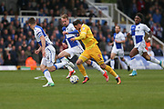 Millwall's Lee Gregory(9) sprints forward during the EFL Sky Bet League 1 match between Bristol Rovers and Millwall at the Memorial Stadium, Bristol, England on 30 April 2017. Photo by Shane Healey.