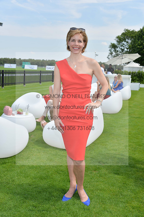 DARCEY BUSSELL at the Audi International Polo at Guards Polo Club, Windsor Great Park, Egham, Surrey on 26th July 2014.