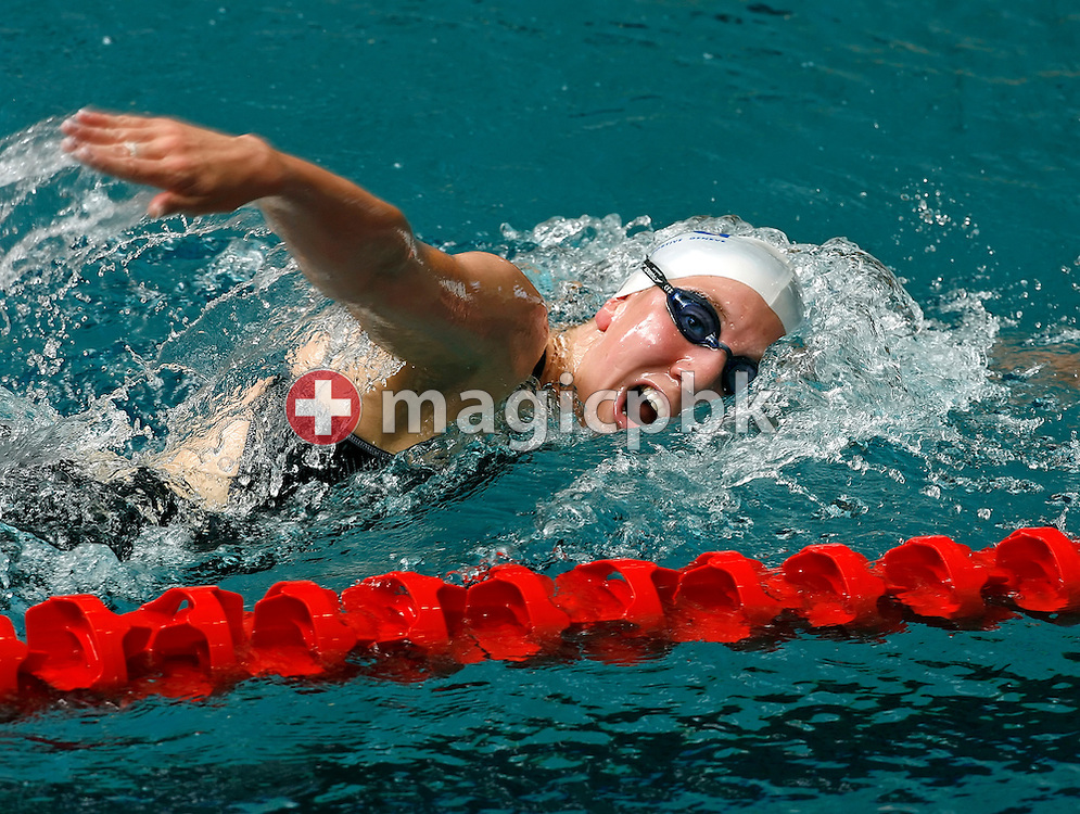 Swann OBERSON of Switzerland competes in the women's 1500m freestyle in the Hallenbad Oerlikon at the Swimming Swiss Championships in Zurich, Switzerland, Saturday 12 May 2007. (Photo by Patrick B. Kraemer / MAGICPBK)