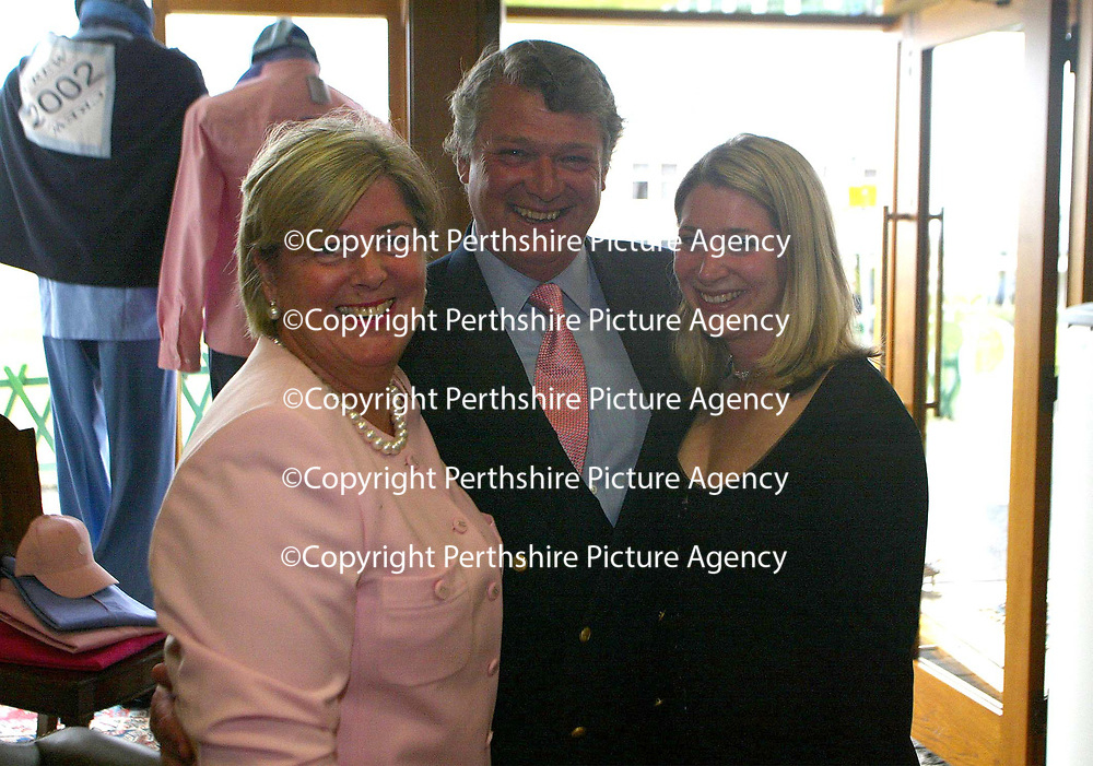 Linda Birkbeck with husband Mark and daughter Ali Golf St Andrews shop, a joint venture between the House of Bruar and the R&amp;A<br />