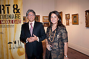 HOSSEIN AMIRSADEGHI; MARYAM HOMAYOUN EISLER, Book launch for ' art and Patronage: The Middle East' at Sotheby's. London. 22 November 2010. -DO NOT ARCHIVE-© Copyright Photograph by Dafydd Jones. 248 Clapham Rd. London SW9 0PZ. Tel 0207 820 0771. www.dafjones.com.