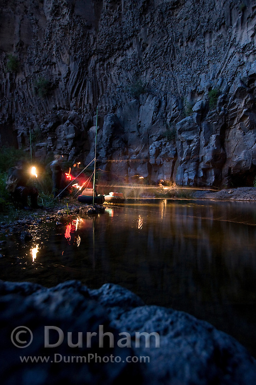 Employees from several state and federal agencies set-up mist nests to catch bats during a bat survey in central Washington.