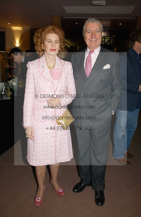 COUNT & COUNTESS FLAMBURIARI at a private view of the forthcoming sale 'From the Collection of King George 1 of The Hellenes', held at Christie's. King Street, London on 22nd January 2007.<br /><br />NON EXCLUSIVE - WORLD RIGHTS