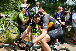 Sheyla Gutierrez Ruiz (ESP) approaches the top of the second categorised climb at OVO Energy Women's Tour 2018 - Stage 2, a 145 km road race from Rushden to Daventry, United Kingdom on June 14, 2018. Photo by Sean Robinson/velofocus.com