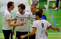 06-10-2012 VOLLEYBAL: SLIEDRECHT SPORT - ABIANT LYCURGUS 2: SLIEDRECHT<br /> Abiant Lycurgus 2 heeft in de Topdivisie Sliedrecht Sport met 1-3 verslagen. De setstanden waren 28-26, 19-25, 21-25 en 20-25 / (L-R) Gert-Jan Toonen, Lucas Vermeulen, Mark Kleiweg<br /> ©2012-FotoHoogendoorn.nl