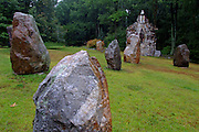 The Circle of Stones, with St. Oran's Bell Tower.  Columcille was started in 1978 by William H. Cohea, Jr. and is inspired by ancient traditions from the Isle of Iona.