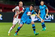 AMSTERDAM - 05-04-2017, Ajax - AZ, Stadion Arena, Ajax speler Davy Klaassen, AZ speler Wout Weghorst