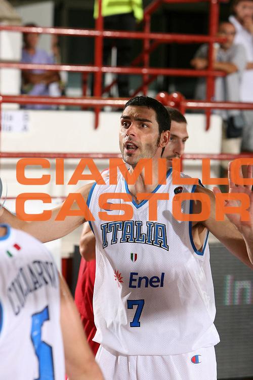 DESCRIZIONE : Porto San Giorgio Qualificazione Eurobasket 2009 Italia Ungheria<br /> GIOCATORE : Matteo Soragna<br /> SQUADRA : Nazionale Italia Uomini <br /> EVENTO : Raduno Collegiale Nazionale Maschile <br /> GARA : Italia Ungheria Italy Hungary<br /> DATA : 10/09/2008 <br /> CATEGORIA : ritratto<br /> SPORT : Pallacanestro <br /> AUTORE : Agenzia Ciamillo-Castoria/G.Ciamillo