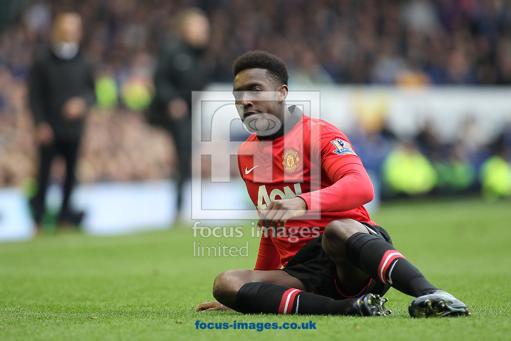 Danny Welbeck of Manchester United shows his frustration during the Barclays Premier League match against Everton, at Goodison Park, Liverpool.<br /> Picture by Michael Sedgwick/Focus Images Ltd +44 7900 363072<br /> 20/04/2014
