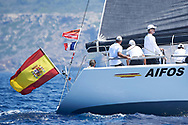 King Felipe VI of Spain on board of Yacht 'AIFOS'  during the 36th Copa Del Rey Mapfre Sailing Cup on July 32, 2017 in Palma, Spain