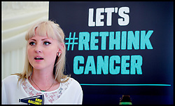 Image ©Licensed to i-Images Picture Agency. 25/06/2014. London, United Kingdom. Coppafeel founder Kris Hallenga launches her RethinkCancer Manifesto in the House of Commons. . Picture by Andrew Parsons / i-Images