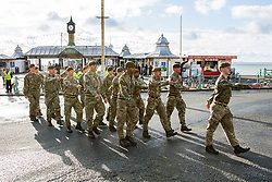 © Licensed to London News Pictures. 12/11/2017. Brighton, UK. Members of the Arms Forces, public and dignitaries take part in the 2017 Remembrance day event in brighton and Hove, today 12th November 2017. Photo credit: Hugo Michiels/LNP