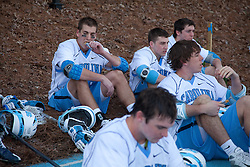 14 February 2009: North Carolina Tar Heels midfielder Ben Hunt (18) during the halftime of a 20-7 win over the Denver Pioneers on Fetzer Field in Chapel Hill, NC.
