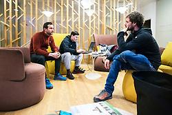 Ivica Kostelic, Matej Bradaskja, Jan Podgornik during interview for Iceland expeditions on March 1 , 2019 in Hotel Spik, Gozd Martuljek, Slovenia. Photo by Peter Podobnik / Sportida