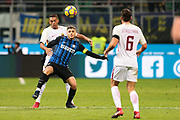 Mauro Icardi of Inter and Juan Jesus of AS Roma during the Italian championship Serie A football match between FC Internazionale and AS Roma on January 21, 2018 at Giuseppe Meazza stadium in Milan, Italy - Photo Morgese - Rossini / ProSportsImages / DPPI