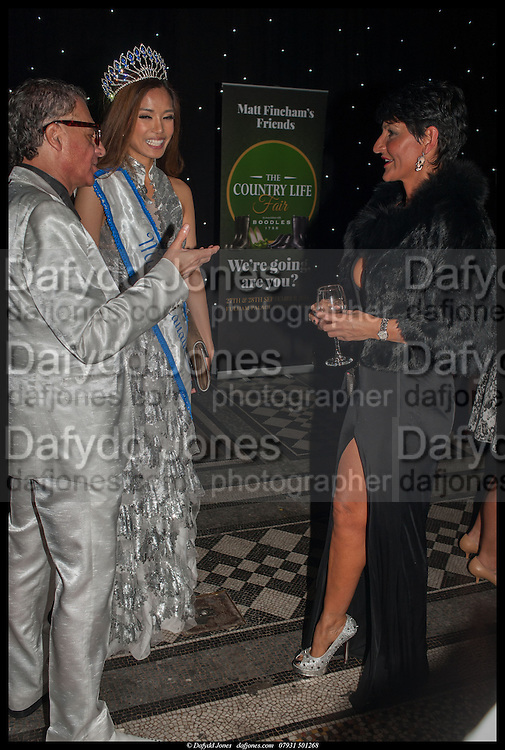 ALAN ENFIELD; ZANDRA FLORES; ILDA DI VICO, The Country Life Fair, Royal reception and Grand Ball. Natural History Museum, Cromwell Rd. London. 10 September 2014.