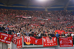 May 2, 2018 - Rome, Lazio, Italy - AS Roma v FC Liverpool - Champions League semi-final second leg.Liverpool supporters at Olimpico Stadium in Rome, Italy on May 02, 2018. (Credit Image: © Matteo Ciambelli/NurPhoto via ZUMA Press)