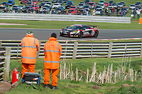 Black Bull Garage 59 #100 McLaren 570S GT4 Sandy Mitchell/Ciaran Haggerty GT4 Silver during British GT Championship as part of the BRDC British F3/GT Championship Meeting at Oulton Park, Little Budworth, Cheshire, United Kingdom. April 15 2017. World Copyright Peter Taylor/PSP.  Copy of publication required for printed pictures.  Every used picture is fee-liable. http://archive.petertaylor-photographic.co.uk