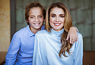 30.01.2018; Amman, Jordan: QUEEN RANIA OF JORDAN AND SON PRINCE HASHEM<br /> at the Royal Hashemite Court on the ocassion of his 13th birthday.<br /> Prince Hashem who is the fourth child of King Abdullah and Queen Rania shares the same birthday as his father. He was born on 30th January 2005.<br /> Mandatory Credit Photo: &copy;Hashimite Royal Court/NEWSPIX INTERNATIONAL<br /> <br /> (Failure to credit will incur a surcharge of 100% of reproduction fees)<br /> IMMEDIATE CONFIRMATION OF USAGE REQUIRED:<br /> Newspix International, 31 Chinnery Hill, Bishop's Stortford, ENGLAND CM23 3PS<br /> Tel:+441279 324672  ; Fax: +441279656877<br /> Mobile:  07775681153<br /> e-mail: info@newspixinternational.co.uk<br /> Please refer to usage terms. All Fees Payable To Newspix International
