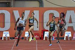 July 20, 2018 - Monaco - 400 metres dames - Shaunae Miller Uibo (Bahamas) - Libania Grenot (Italie) - Salwa Eid Naser (Bahrein) - Jessica Beard  (Credit Image: © Panoramic via ZUMA Press)