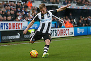 Newcastle United midfielder Matt Ritchie (11)  crosses the ball during the EFL Sky Bet Championship match between Newcastle United and Aston Villa at St. James's Park, Newcastle, England on 20 February 2017. Photo by Simon Davies.