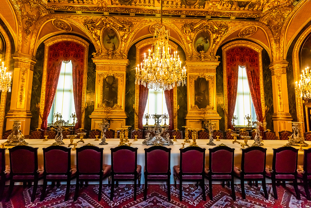 Dining room, Napoleon III's apartments, Louvre Museum, Paris, France.