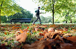 © Licensed to London News Pictures. 01/10/2014<br /> An October autumn day in Greenwich Park,Greenwich,London. (today 01.10.2014)<br /> (Byline:Grant Falvey/LNP)