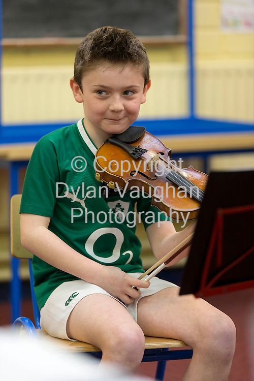 "9/3/2013.Pictured at the Kilkenny Music Festival Competition for Primary Schools at St Canice's Co-Ed Primary School was Sean Keenan aged 8 from Kilkenny from the group "" The Little Rascals "".Picture Dylan Vaughan. ......"