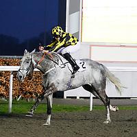 Arabian Heights and George Downing winning the 6.15 race